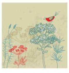 Bird garden vector