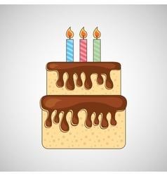 birthday cake icon vector image