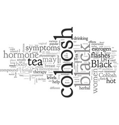 Black cohosh tea vector