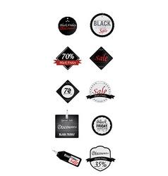 Black Friday Labels vector