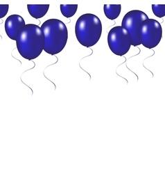 Blue festive balloons background vector image