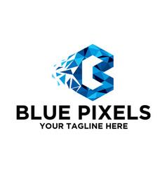 Blue pixels vector