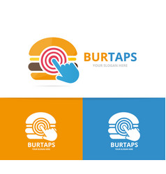 burger and click logo combination vector image