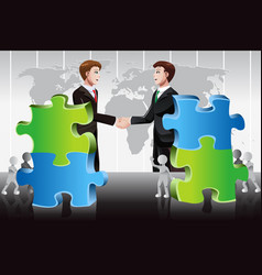 business merger concept vector image