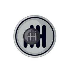 Car gearbox icon in flat style isolated on white vector