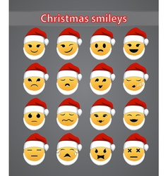 Celebratory Christmas smileys vector