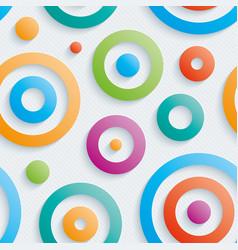 Colorful circles wallpaper vector