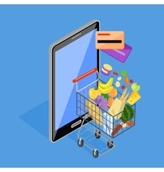 Concept of Shopping Internet Shop vector image