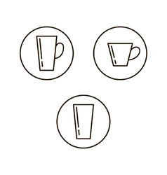 Cup drink icons vector image