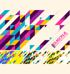 Diagonal abstract background colorful vector