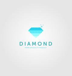 Diamond logo halftone icon design vector