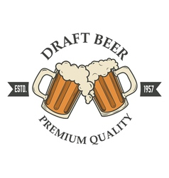 draft beer vector image