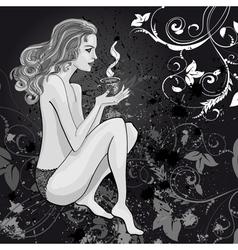 drawing woman vector image
