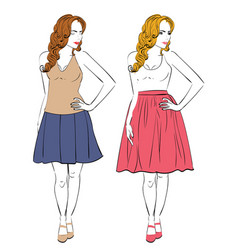 Dress for pear body type vector