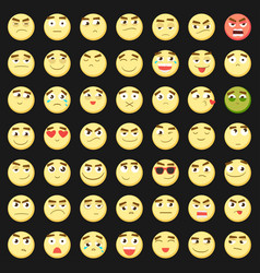 Emoticon set collection of emoji 3d emoticons vector