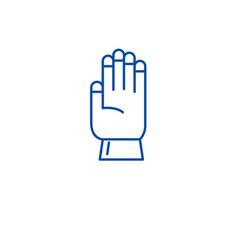 farm glove line icon concept farm glove flat vector image