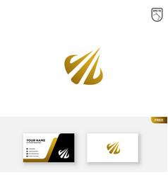 Finance and accounting chart grow logo vector