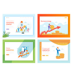 financial investment business success landing page vector image