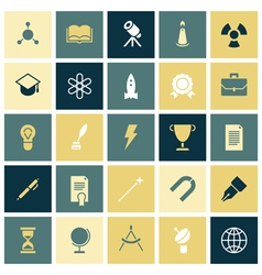 Flat design icons for education and science vector image