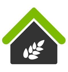 grain warehouse flat icon vector image