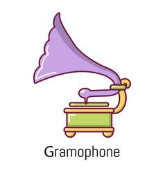 Gramophone icon cartoon style vector