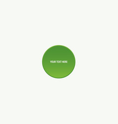 green button with text vector image