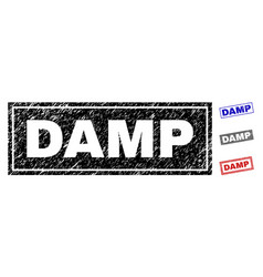 Grunge damp scratched rectangle watermarks vector
