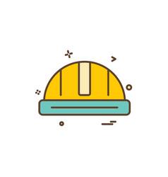 helmet labour icon design icon vector image