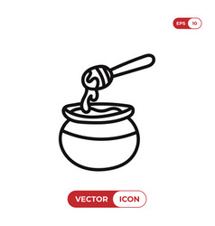 honey icon vector image