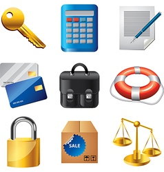 icons business items vector image