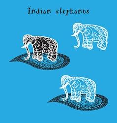 Indian elepnant vector