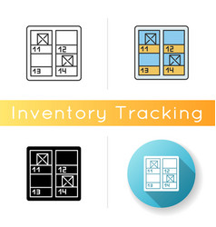 Inventory control icon stock checking stocktaking vector