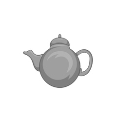 Kettle icon black monochrome style vector image