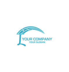 L cleaning service logo design vector