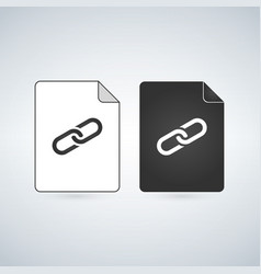 link document file icon flat sign for mobile vector image