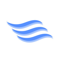 Logo of the wave on white vector