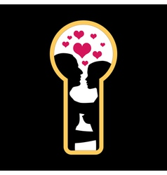 Love in the keyhole vector