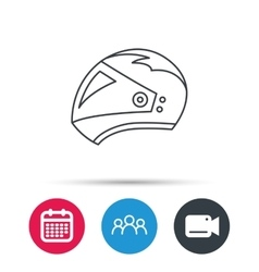 Motorcycle helmet icon Biking sport sign vector