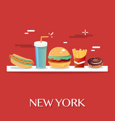 new york food vector image