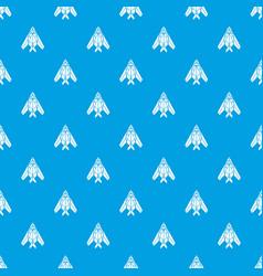 passenger airplane pattern seamless blue vector image