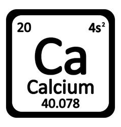 Periodic table element calcium icon vector image