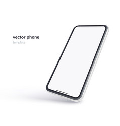 Phone isolated on white background realistic vector