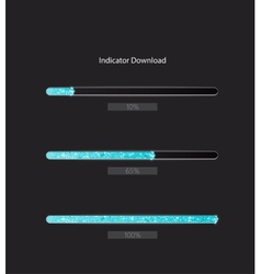 Progress bars vector image