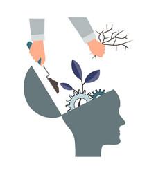 psychotherapy or nlp symbol natural language vector image