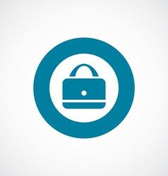 purse icon bold blue circle border vector image