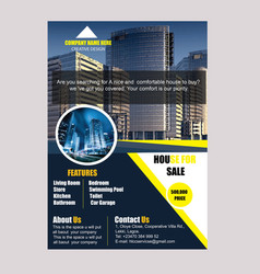 Real estate flyers templates vector