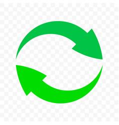 recycle arrows circle icon eco waste bin sign vector image