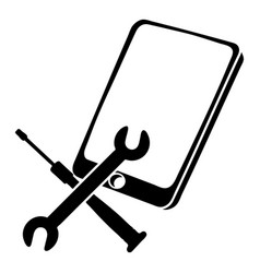 Repair smartphone icon simple black style vector