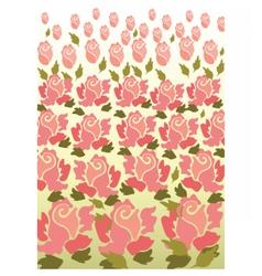 Rose flower pattern background vector image