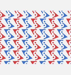 seamless geometric pattern blue and red color vector image
